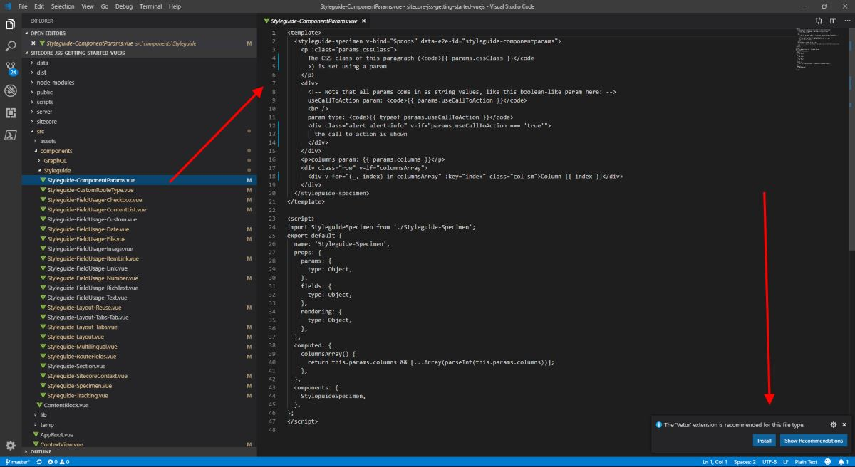 Best Visual Studio Code Vue js extensions for Sitecore JSS