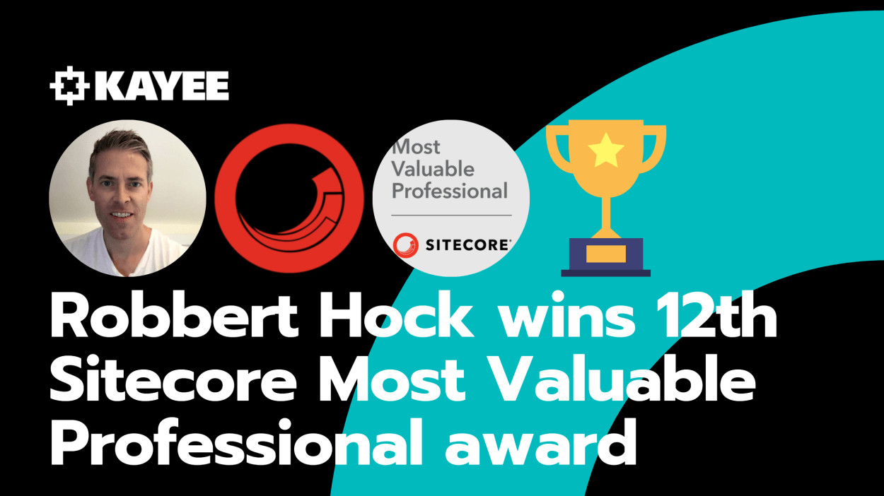 Robbert Hock wins 12th Sitecore Most Valuable Professional award