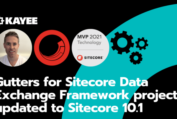 Gutters for Sitecore Data Exchange Framework project updated to Sitecore 10.1