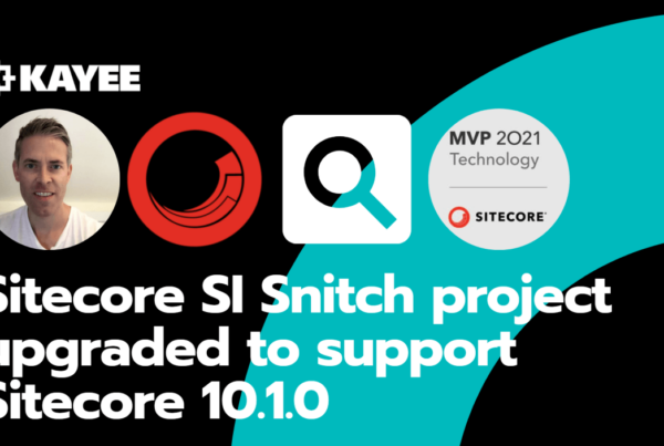 Sitecore SI Snitch project upgraded to support Sitecore 10.1.0