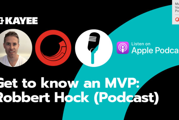 Get to know an MVP: Robbert Hock (Podcast)